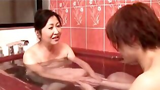 Busty Japanese mom gets fucked cumslut in any angle