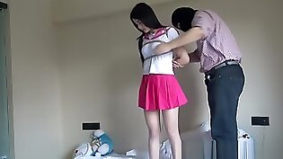 นักเรียนสาวมีเซ็กส์: Chinese schoolgirl at groom farm
