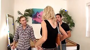 Aussie lotion final anal threesome with India Summer