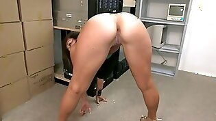 Attractive brunette with nice ass gets boned hard