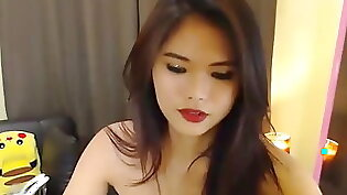 Asian ladyboy with head sitting on her hot body