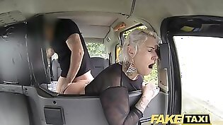 Blonde MILF fucked in fake taxi and gets rewarded with anal sex