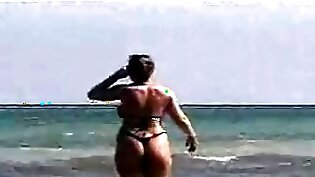 One Bubble Butt Naked at the beach