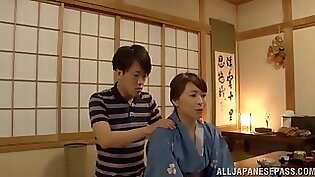 Japanese Maki Big Wet Fingering Tits to Mom and Her Pussy