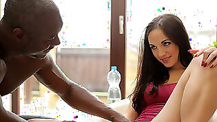 Black Amy interracial hard with two white men
