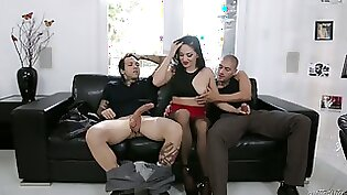 Big taco babe Vanessa double teamed by big cock