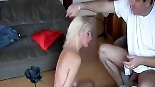 Cheating horny wife humiliates her hubby by fucking her outside