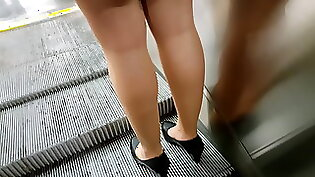 Aroused hottie upskirt tease with pantyhose lingerie