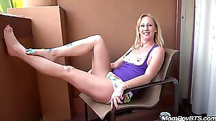 Blonde wife cheating in front of husband