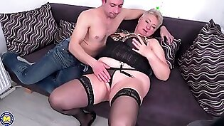 Cute Granny O Young Boy Takes it in The Ass