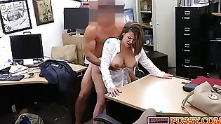 Blonde milf tight ass getting banged for cash