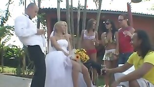 blonde shemale bound naked at outdoor sex