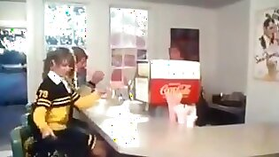 Gangbanged in a hotel. Male cheerleader whipped